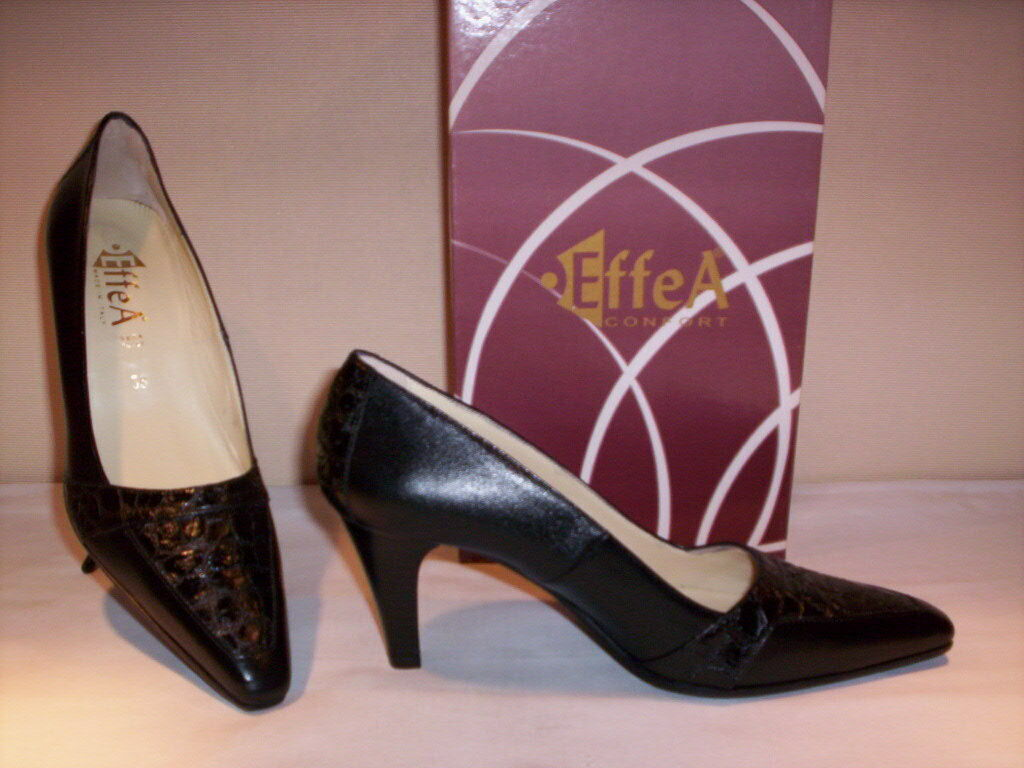 EffeA EffeA EffeA classic shoes comfortable court elegant woman heels leather black 50f730