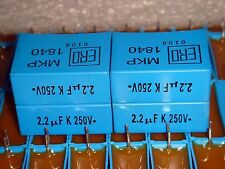 4 X CLASSIC ERO MKP 1840 2.2uF +/-10% 250V METALLISED POLYPROPYLENE CAPACITOR
