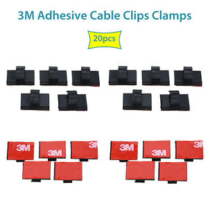 Adhesive-Tape-Car-Cable-Holder-Wall-Wire-Clips-Cord-For-VIOFO-A119-A119S-A118