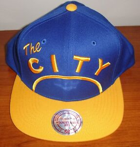 bc6996a975c Golden State Warriors Mitchell   Ness The City Blue Snapback Hat Cap ...