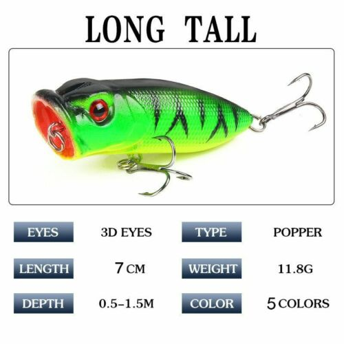 New Topwater Popper Fishing Lures Savage Minnow Crankbaits Sea LRF Gear Tackle