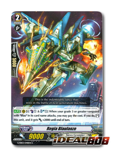 C Pack Fresh Mint Cardfight Vanguard  x 4 Regia Blaulanze G-EB03//048EN