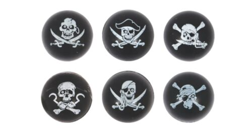Pirate Bouncy Ball Jet Black Skull and Crossbones Party Bag Favour Loot