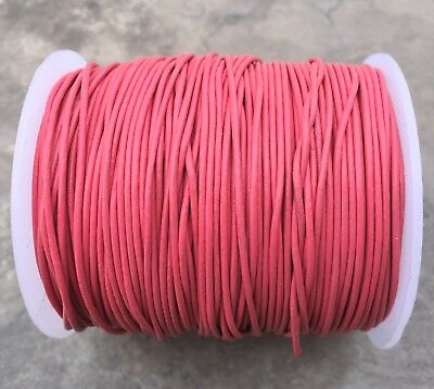 Leather Cord 1 mm leather strap 2 m pink metallic round leather band jewelry Ribbon pink leather cord 1 mm jewelry cord round leather cord for bracelets