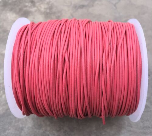 1mm 1.5mm 2mm Pink Leather Round Cord Round Leather Cord