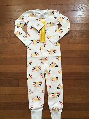 NWT Girls Zip Up Sleeper Pajamas PJs Hanna Andersson 90 Size 3t NEW
