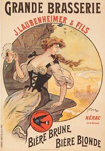 Original-Vintage-Poster-F-Bac-Laubenheimer-Brasserie-Beer-Hirondelle-1908
