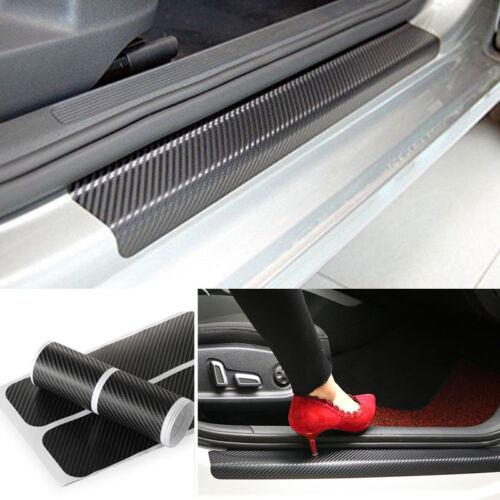 5D Carbon Fiber Sticker For Chevrolet Car Door Sill Scuff Plate Protector