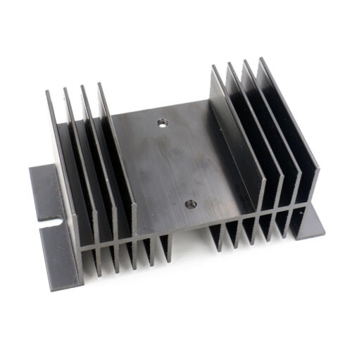 Disipador térmico de refrigeración del disipador de calor 10*5*7 cm para el Relé de estado sólido SSR Aluminio Negro
