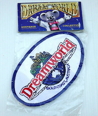 VINTAGE DREAMWORLD GOLD COAST QLD EMBROIDERED SOUVENIR PATCH WOVEN CLOTH BADGE
