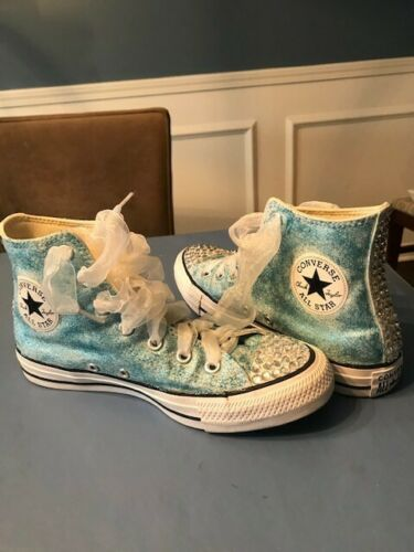 Woman's custom chucks all star shoes size 7.5.  Wo