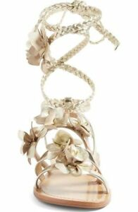 2bdc1c8374c Image is loading New-Tory-Burch-Blossom-Gladiator-Sandals-Gold-6-