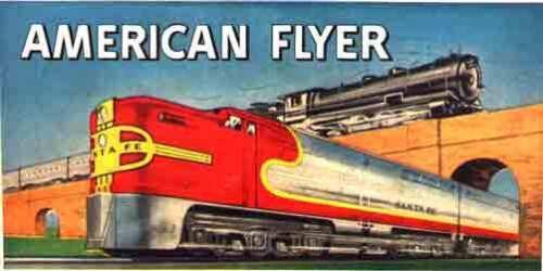 SANTA FE//STEAM WHISTLING BILLBOARD INSERT #2 for American Flyer S Gauge Trains