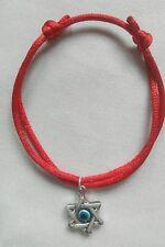 Star of David Hexagram Charm Red STRING KABBALAH LUCKY BRACELET Against Evil Eye