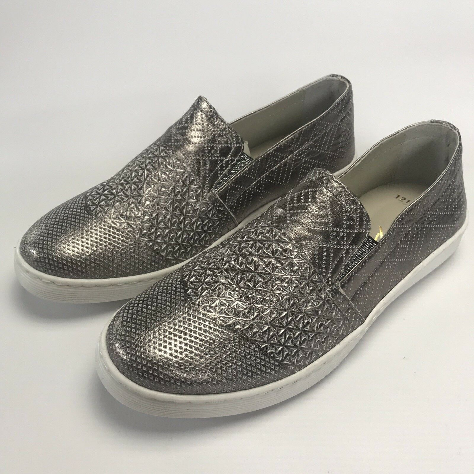 Andrea Conti Womens shoes Loafers Flats 1783404 UK 5 EUR 38 Silver Leather