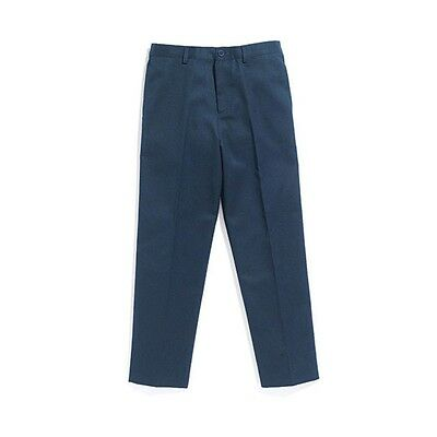 BOYS NAVY BLUE FLAT FRONT SCHOOL TROUSERS  AGE 12 YEARS BRAND NEW