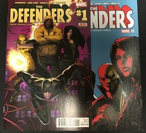 DEFENDERS-1-amp-2-Marvel-Comics-Tv-show-Netflix-NM