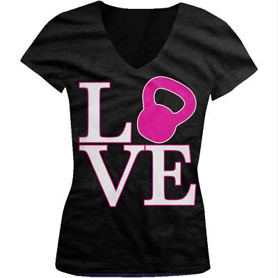 Love Kettle Bell Gym Lifting Workout Exercise Fitness Beater Tank Top