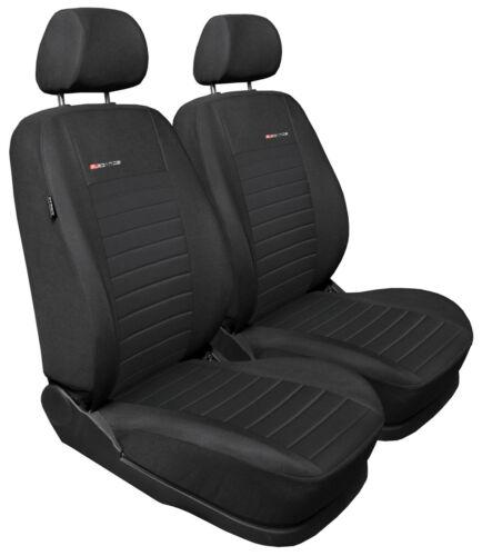 Cubiertas de asiento de coche para asientos delanteros Ajuste Suzuki Vitara-Gris carbón par #4