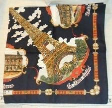 Vintage Lahmy Paris Souvenir Scarf