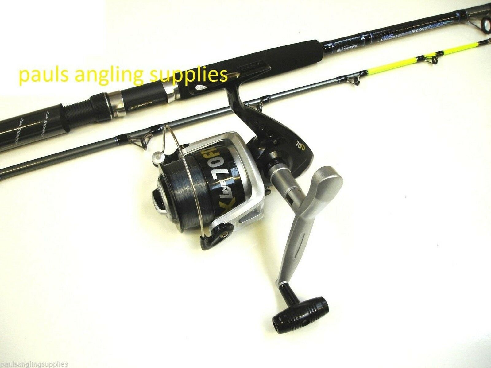 DT 7 ft Boat Fishing Rod & Lineaeffe Vigor SX070 Reel + Line
