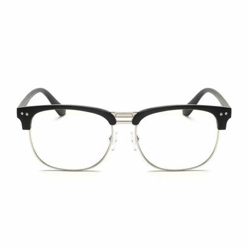 mit O8R9 B4Q6 Klarsichtbrille Hälfte Umranten Brille ohne Stärke Zweifarbig,/';