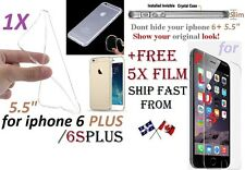 "iphone 6 PLUS 6Plus 6SPlus 5.5"" CRYSTAL Clear case Cover transparent Soft TPU ,"