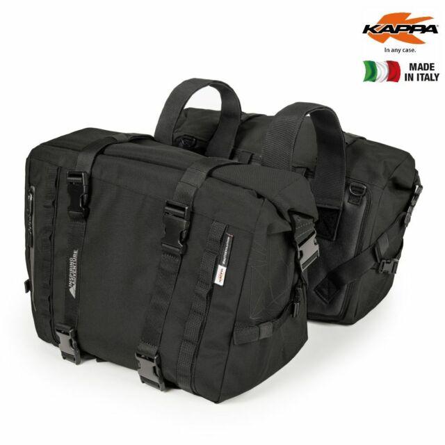 Par Alforjas Moto kappa RA316BK Agua Resistant Racer Capacidad 25 Litr