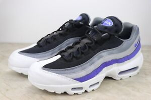 online retailer 3d947 83317 Details about Nike Air Max 95 Essential Purple Gry White Running Shoes  749766-110 Mens Size 10