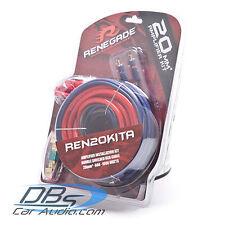 Renegade by Rockford Fosgate REN20KITA 4 Gauge Amp Kit 1000W Amplifier