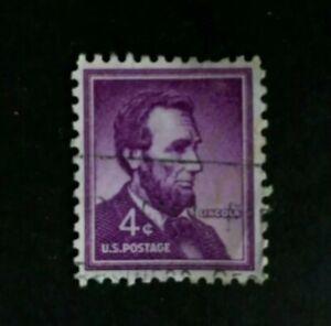 RARE-US-Abraham-Lincoln-4-Cent-Purple-Stamp-1965