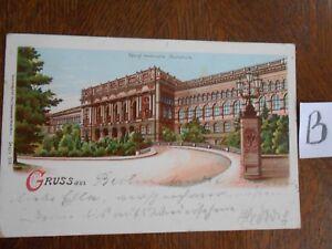 Soigneux Carte Postale Vue Carte Berlin Lithographie Royal-afficher Le Titre D'origine RafraîChissement