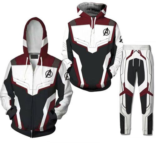 Avengers 4 Endgame Quantum T-shirt Kapuzenpulli Sweatshirt Hose Trainingsanzug