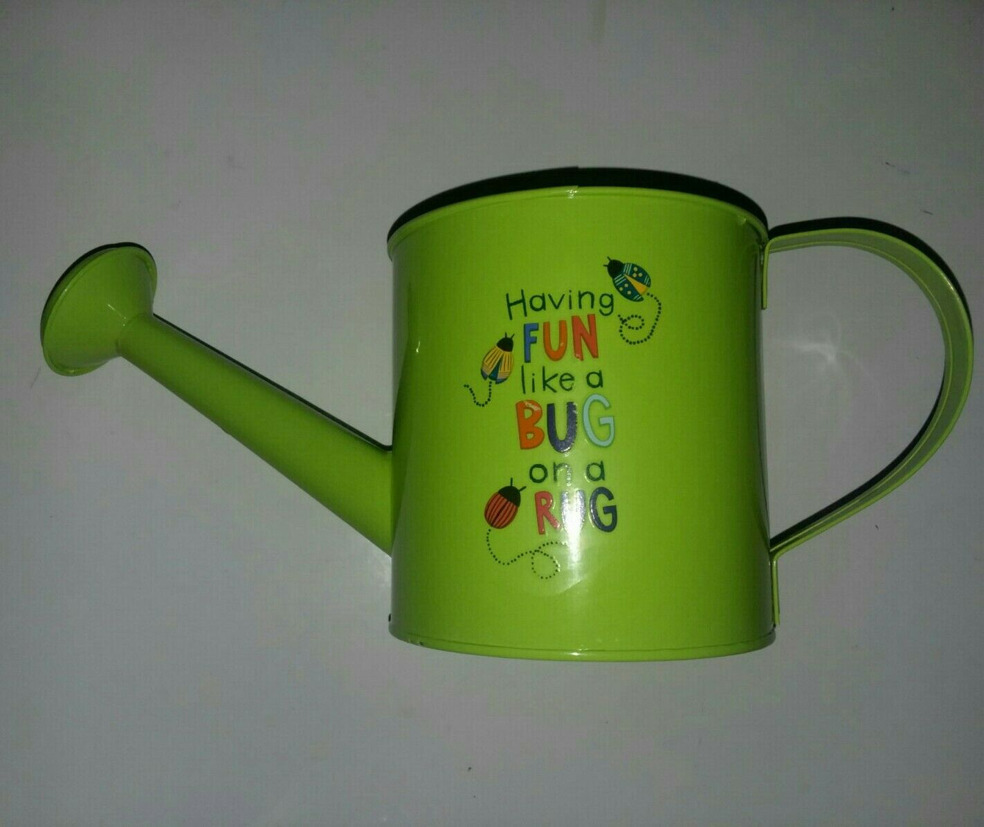 1 Liter Tin Watering Can, 1pcs Garden Bucket Tin For watering or planter. Green