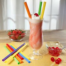 Jumbo Drinking Straws 50 Count Extra Large Plastic Milkshake Smoothie Boba Party