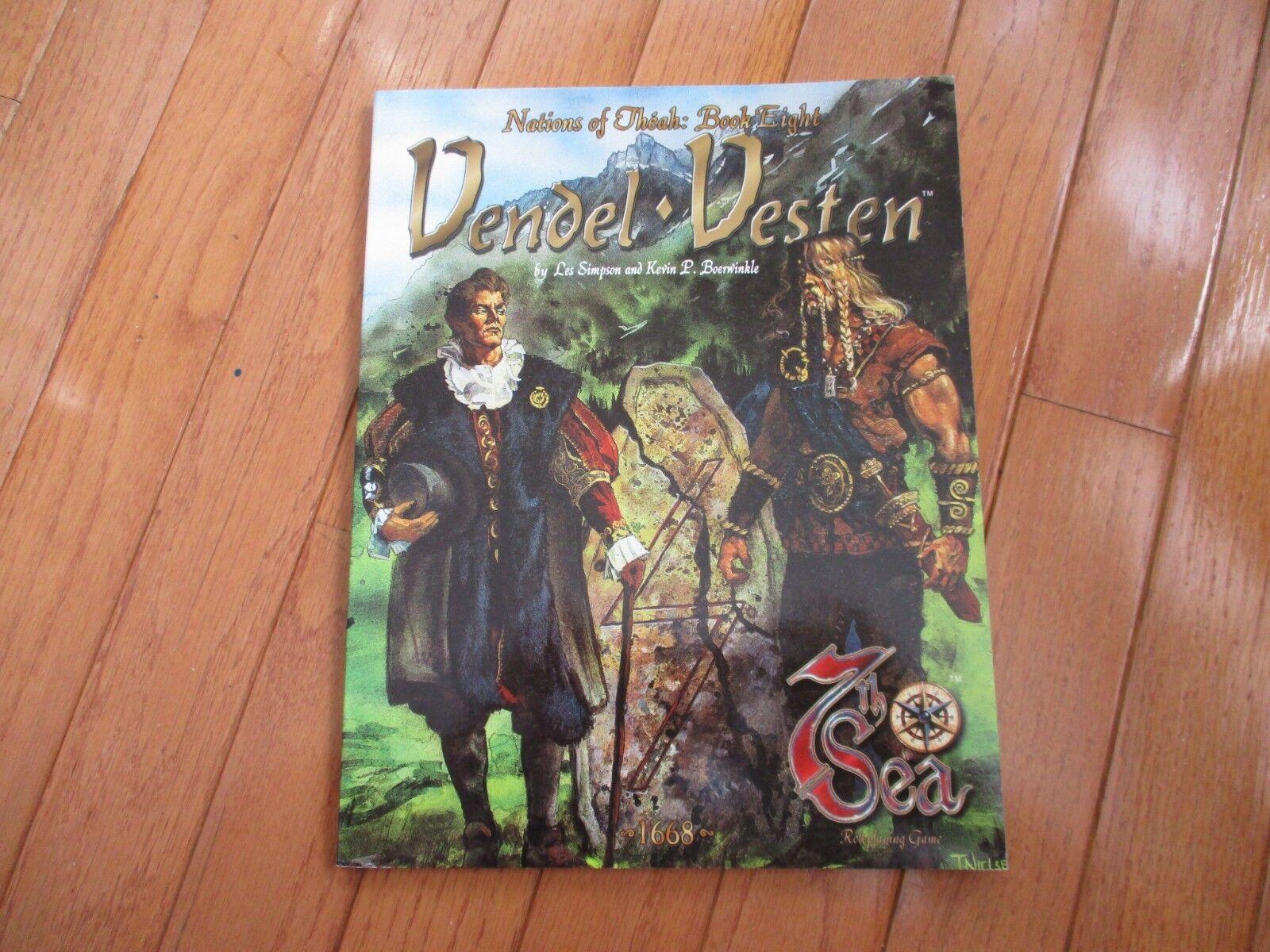 7th Sea RPG Nations of Theah Book 8 Vendel Vesten NM