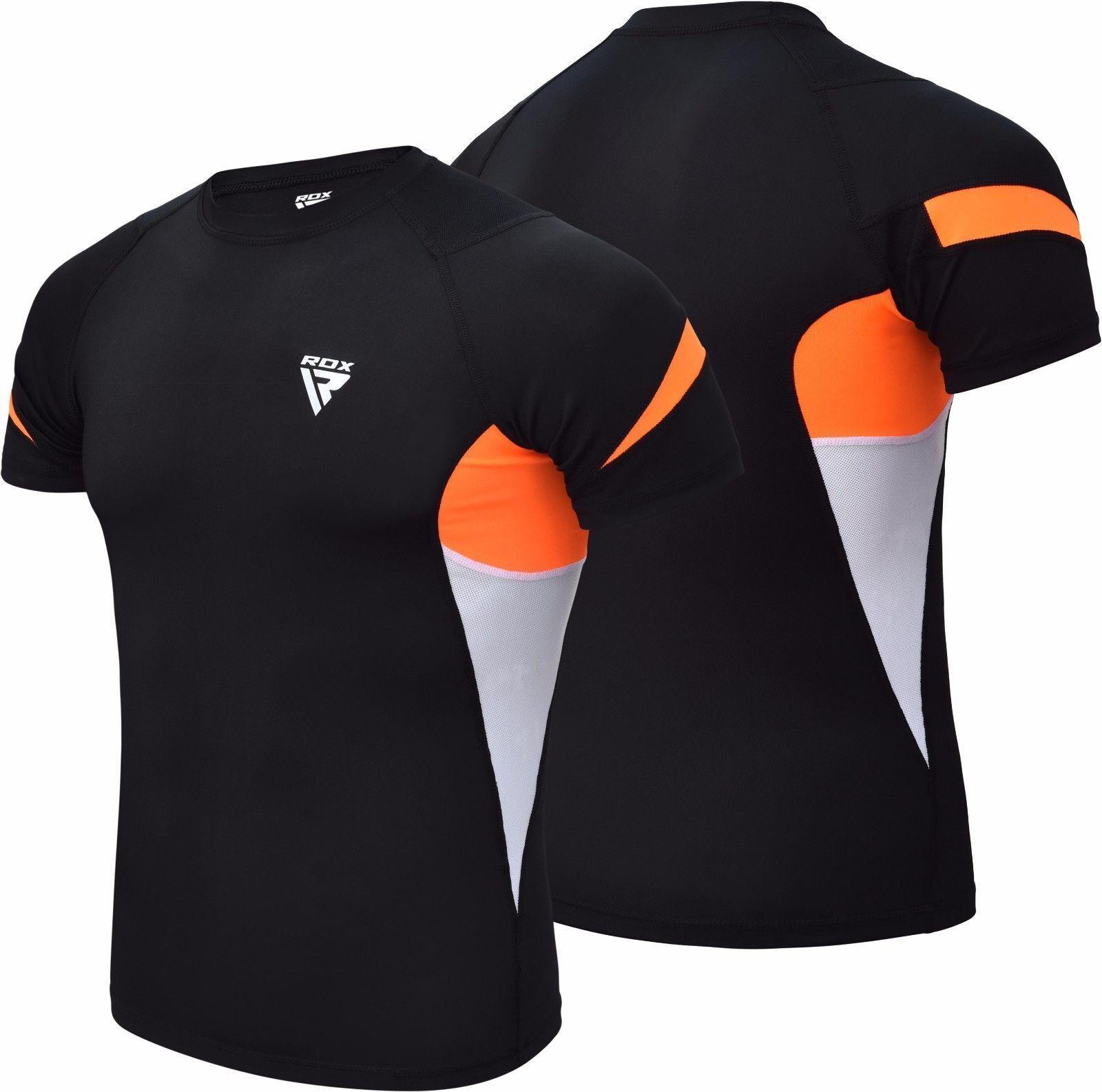RDX Short Sleeve Rash Guard MMA BJJ Shirt Gym Training Swimming Compression US