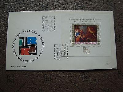 stempel Yvert Und Tellier Block Nr.105 Gehorsam Rumänien Umschlag 5/5/73 cy2