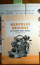 Hercules Motors Corporation Six 6 Cylinder DFXH Diesel Engines Brochure 11/47 +