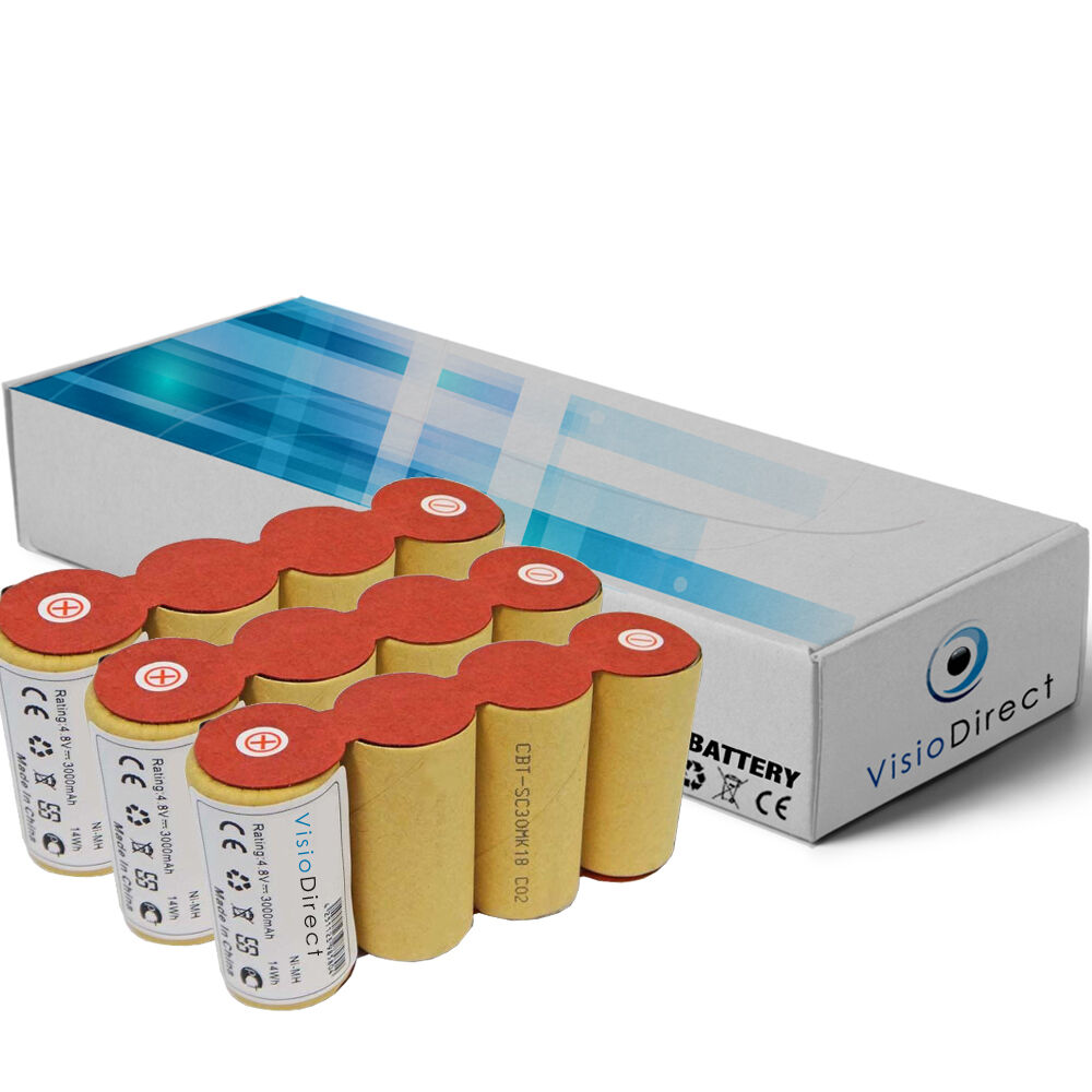 Lot de 3 batteries 4.8V 2000mAh pour Karcher k85 Balai électrique