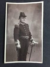 Vintage RPPC: Military #M265: Dress Uniform Officer Sword Bicorn Hat Navy