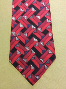 Mens-DON-LOPER-BEVERLY-HILLS-Tie-Red-Multi-color-Gorgeous-Necktie