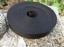 25 mm 1 Pulgada De Cinta Negra Con Textura Tejido X 10 Metros