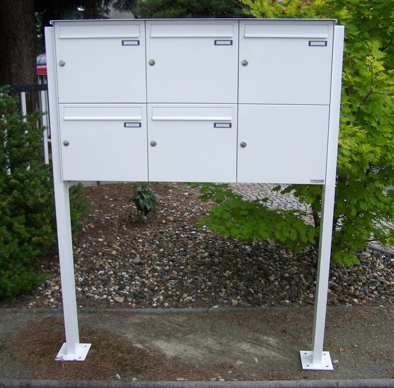 Stand Briefkasten anlage 5 er freistehend Fußplatten Wohnhaus Farbe o. VA FAH179