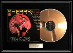 THE-FOUR-4-SEASONS-SHERRY-GOLD-METALIZED-VINYL-RECORD-RARE-FRANKIE-VALLI