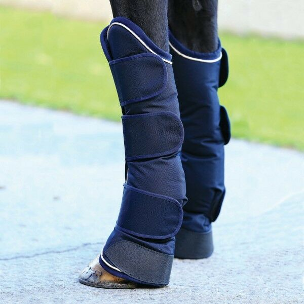 Horseware Rambo Travel Boots - Navy with Cream