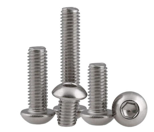 M4 M5 316 stainless Steel A4 Round Hex Socket Button head Screws