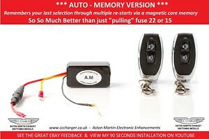 Details about AUTO MEMORY Aston Martin Exhaust By-pass Remote Control V8  Vantage Fuse 22 F15
