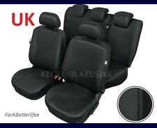 Tailored Seat Covers Black Eco Leather For SUZUKI SX4 S-CROSS 2013 - ONWARDS