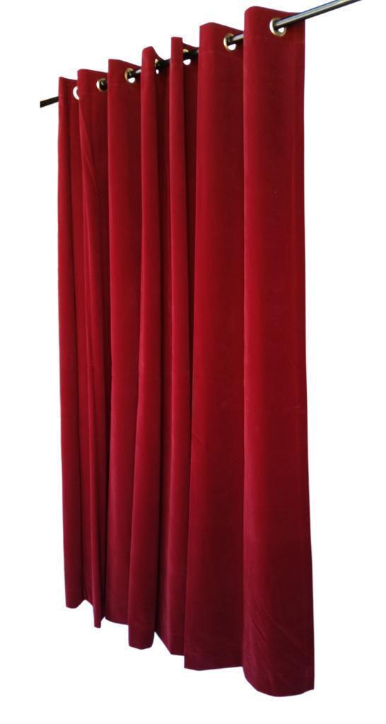 Weinrot 274cmh Samt Samt Samt Vorhang Fläche mit   dichtkörper oberen Ösen Jalousie System | Rich-pünktliche Lieferung  55fcc4
